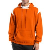 Pullover Hooded Sweatshirt with Contrast Color Thumbnail