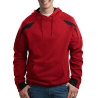 Color Spliced Pullover Hooded Sweatshirt Thumbnail