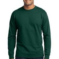 Tall Long Sleeve 50/50 Cotton/Poly T Shirt Thumbnail