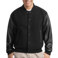 Wool and Leather Letterman Jacket Thumbnail