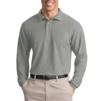 Tall Silk Touch™ Long Sleeve Polo Thumbnail