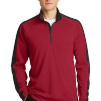 Sport Wick ® Textured Colorblock 1/4 Zip Pullover Thumbnail